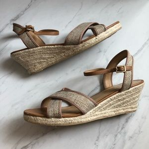 Talbots Tweed Sandal Wedges